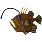 Anglerfish - Copper Metal Art Sculpture by Gary Regner
