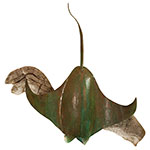 Manta Ray - Copper Metal Art Sculpture by Gary Regner